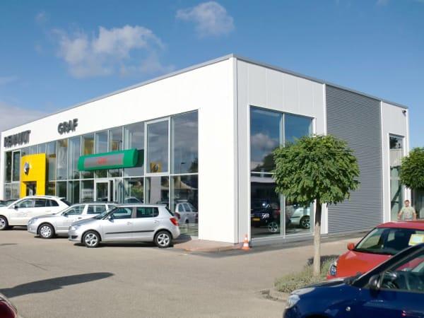 Erweiterung Ausstellungsgebäude Autohaus