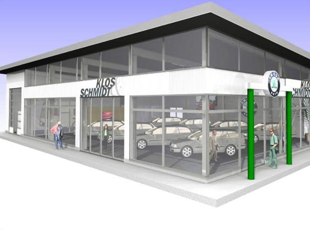 Neubau Ausstellungsgebäude Schmidt