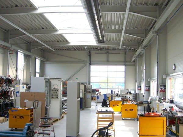 Neubau Produktionshalle innen