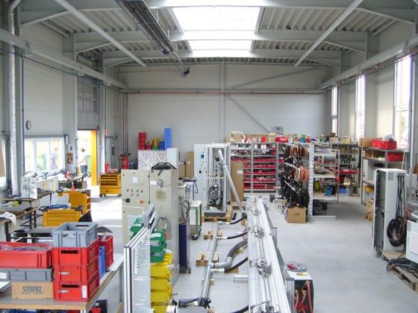 Neubau Produktionshalle Innenansicht