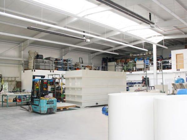 teilschlüsselfertige Maschinenhalle Neubau