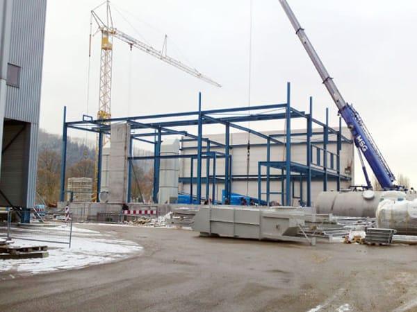Stahlhallenbau Papierfabrik