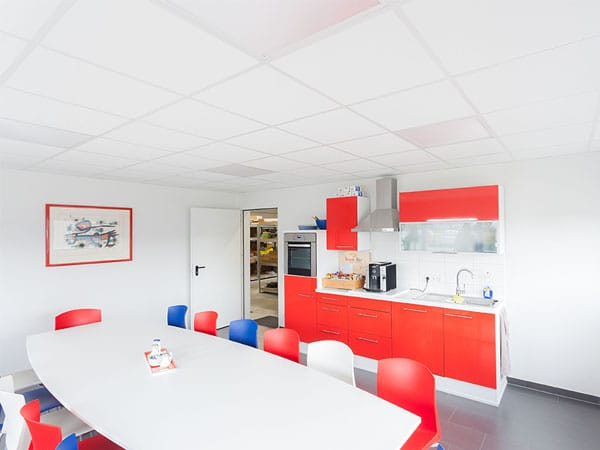 Neubau Gewerbehalle Sozialraum